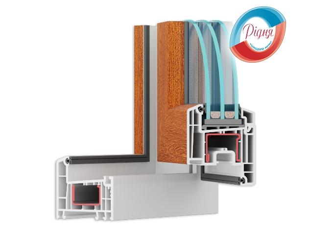 Цветные пластиковые окна - компания Ридня