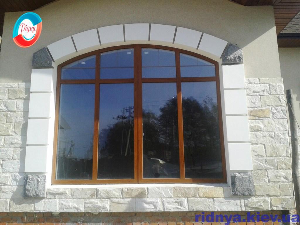 Ламинированные арочные окна - фотогалерея компании Ридня