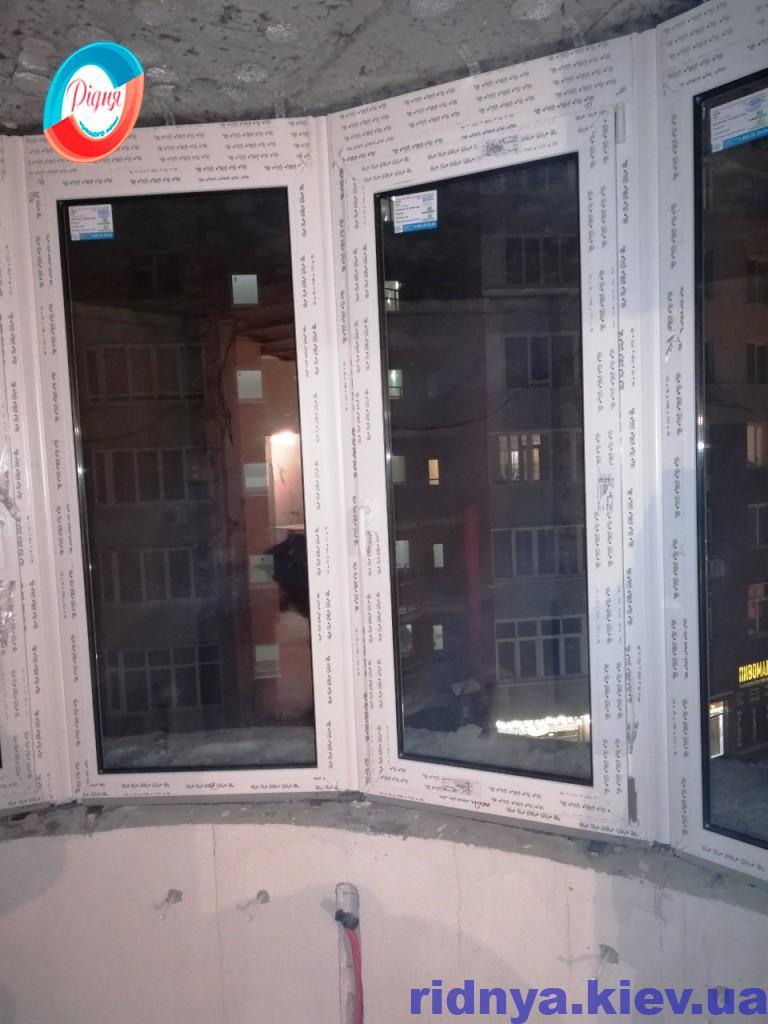 Засклити напівкруглий балкон - фото фірми РІДНЯ