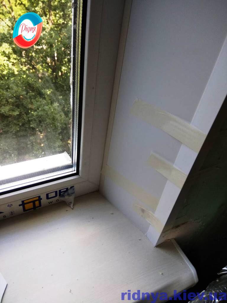 Пластиковые откосы на окна - работы компании Ридня