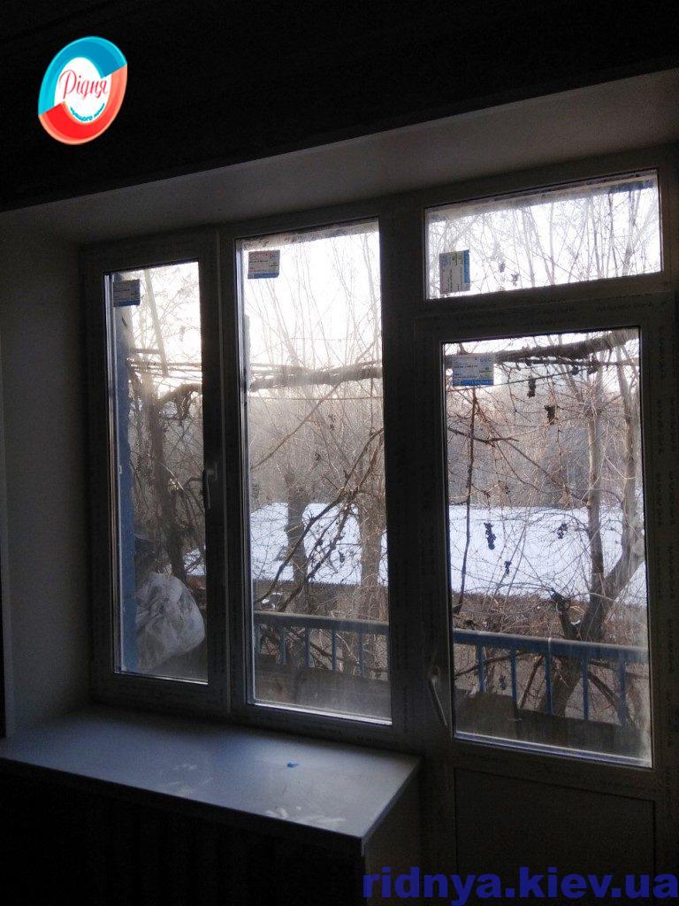Віконні відкоси із гіпсокартона - фото компанії Рідня