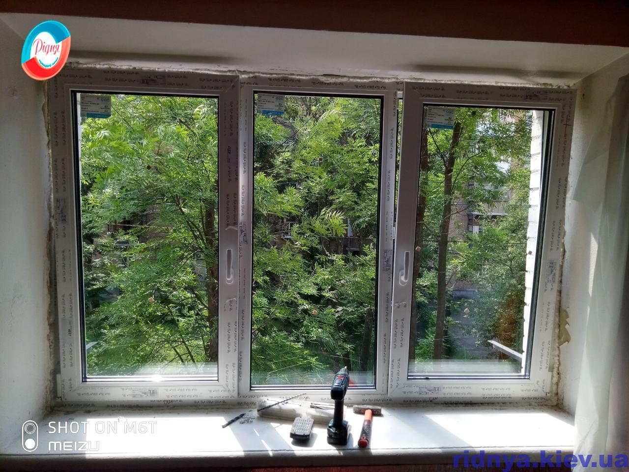 Металлопластиковые окна Rehau Киев на ул. Метростроевская 11 А