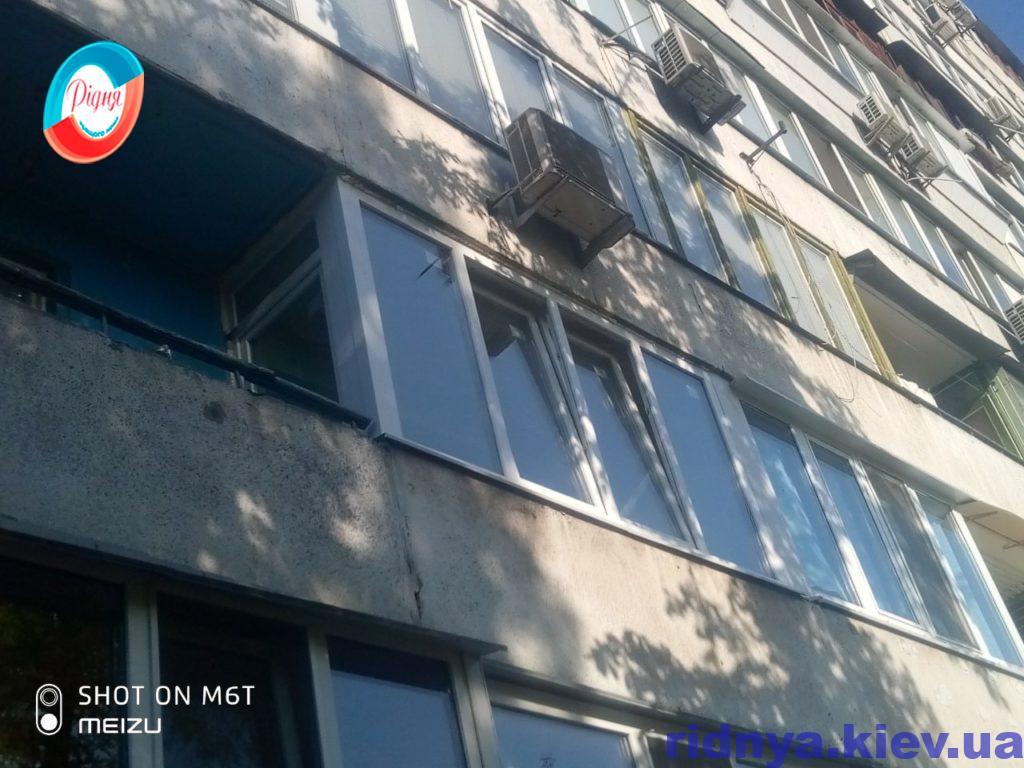 Остекление балкона Чешка Киев на ул. Миколайчука 17/1 - бригада 7