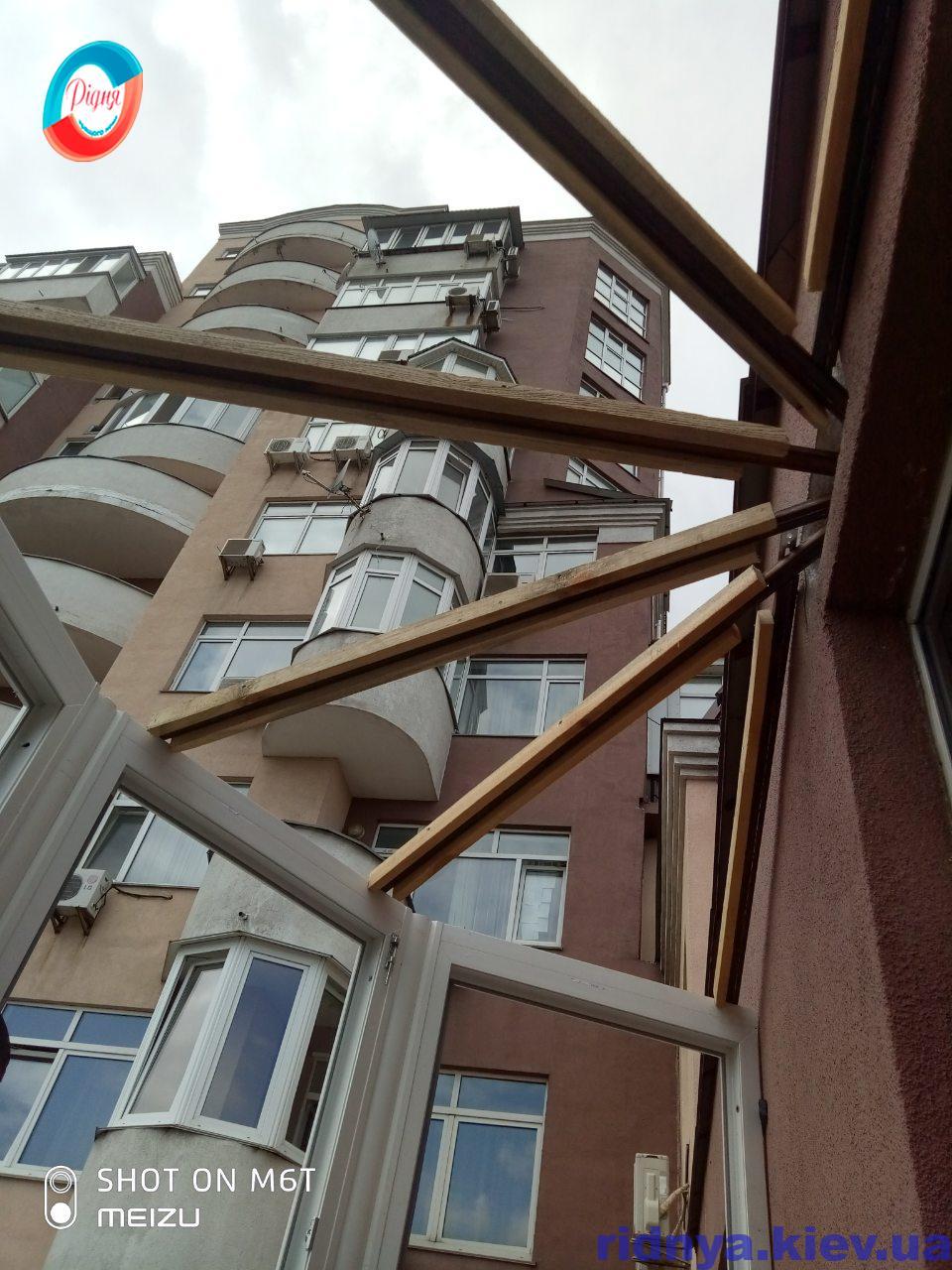 Остекление балкона с крышей Киев фото бригады 13