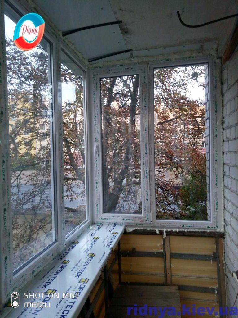 Окна Lider на балконе