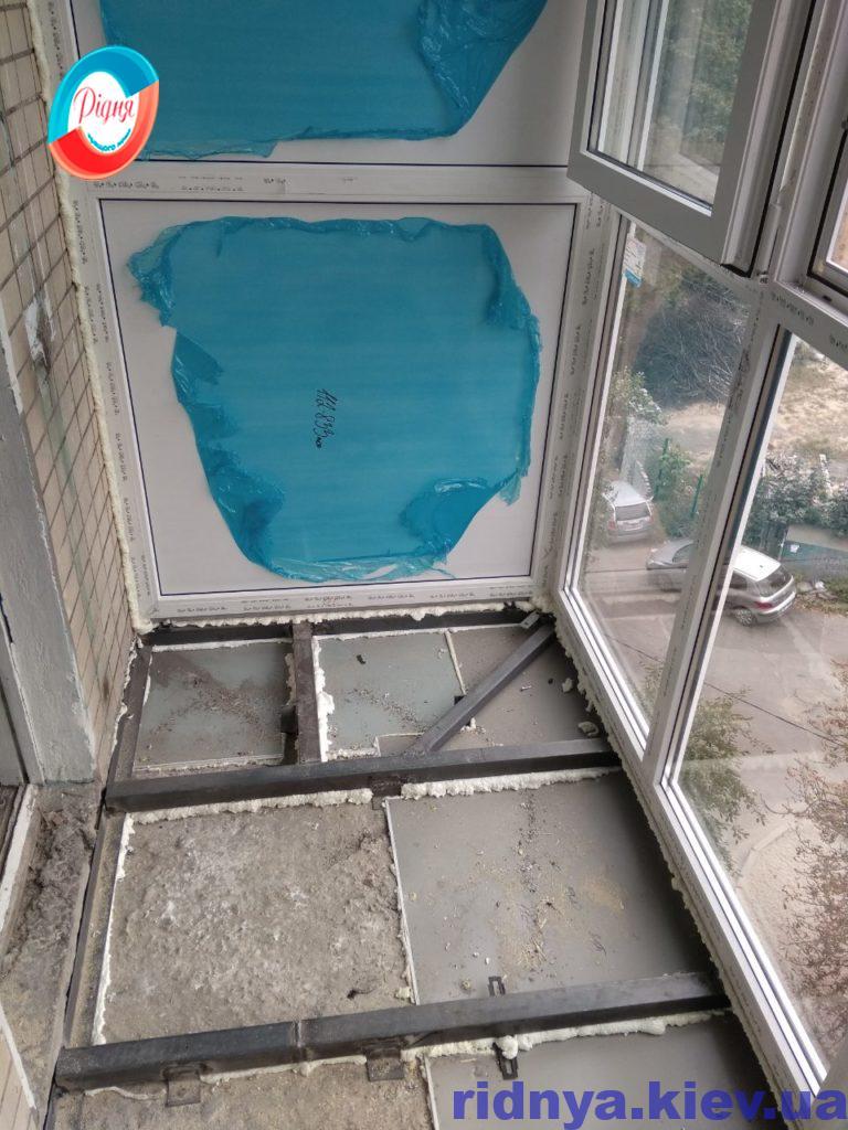 Вынос балкона по полу Киев бул. Дарницький 3а