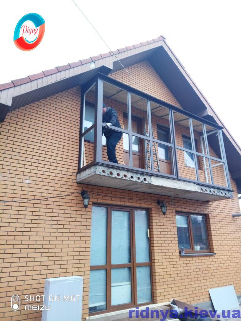 Ламинированные окна Киев фото работы 19 бригады