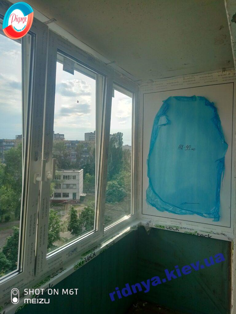 Остекление балконов ул. Закревского 37Б