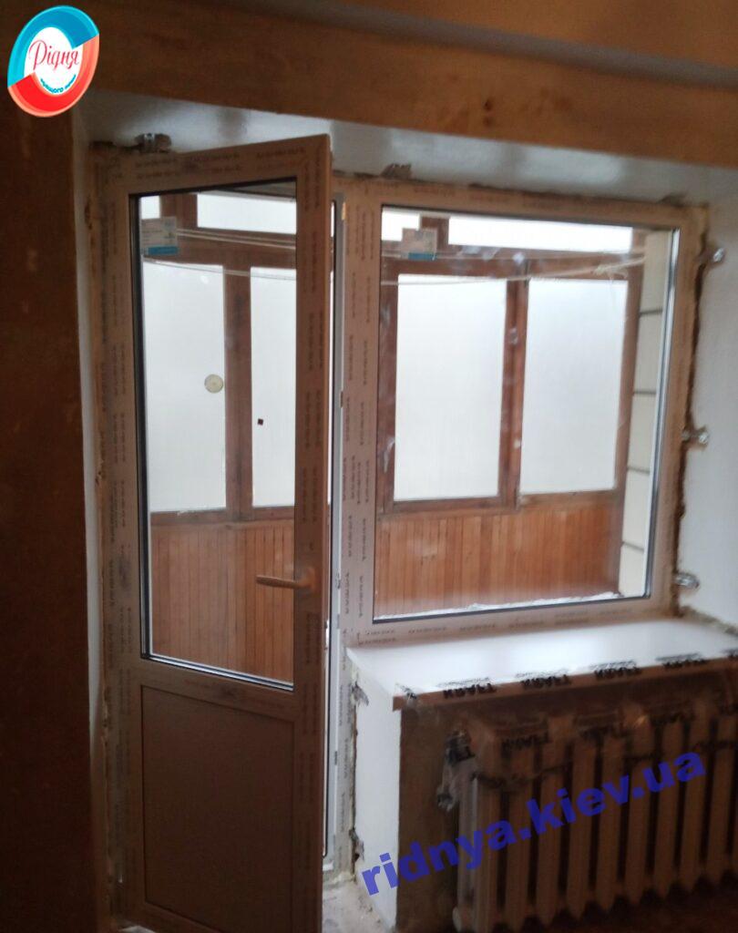 Балконный блок Рехау Киев пр. Голосеевский 110 фото работы 15 бригады