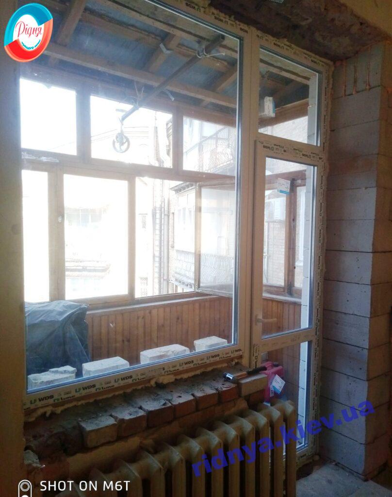 Балконный блок ВДС Киев фото работы ™РИДНЯ